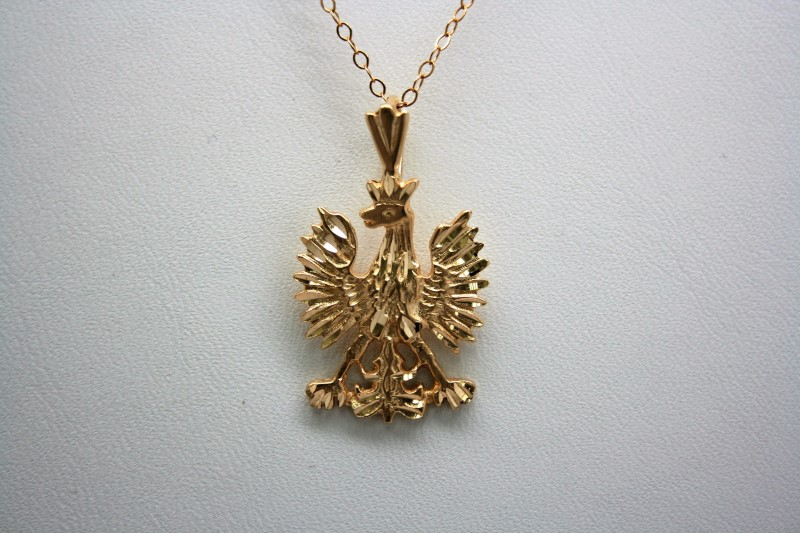 EAGLE PENDANT 14K YELLOW GOLD