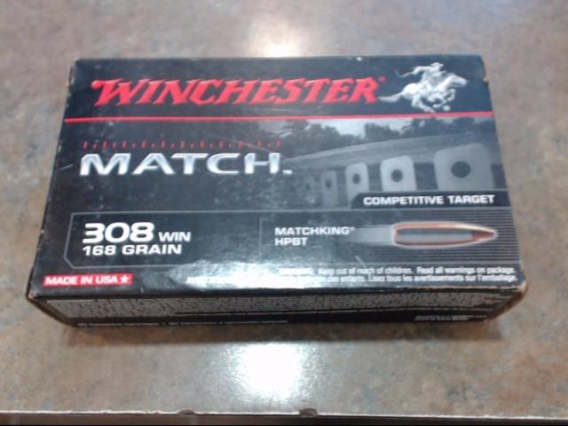 WINCHESTER Ammunition 308 168GR MATCH