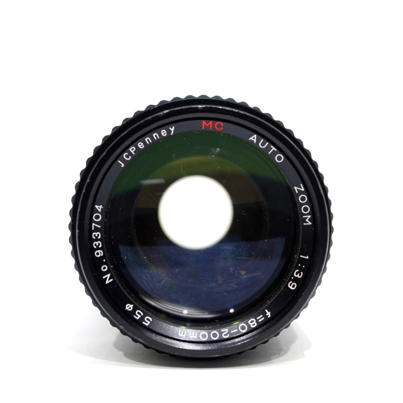JC PENNEY MC AUTO ZOOM CAMERA LENS 1:3.9 80-200MM NO 933704 >