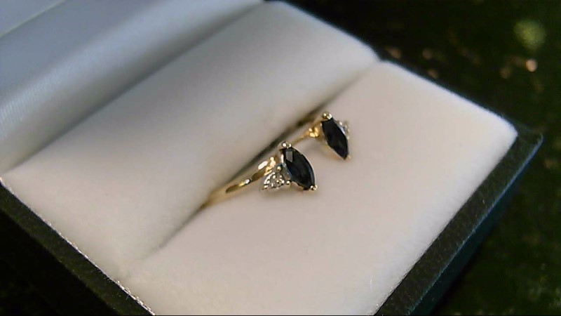 Lady's Stone & Diamond Ring 10K Yellow Gold 1.5g