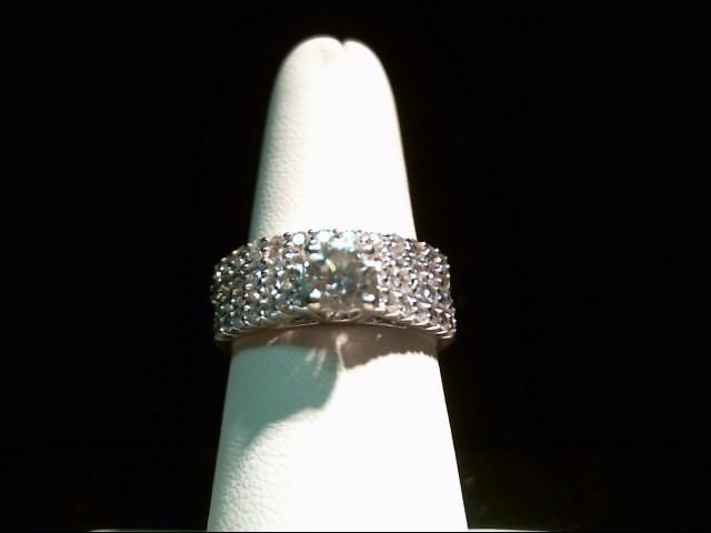 Lady's Diamond Wedding Set 51 Diamonds 1.55 Carat T.W. 14K White Gold 8.7g