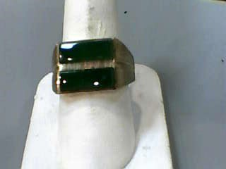 Jade Gent's Stone Ring 10K Yellow Gold 4.6dwt Size:9.5