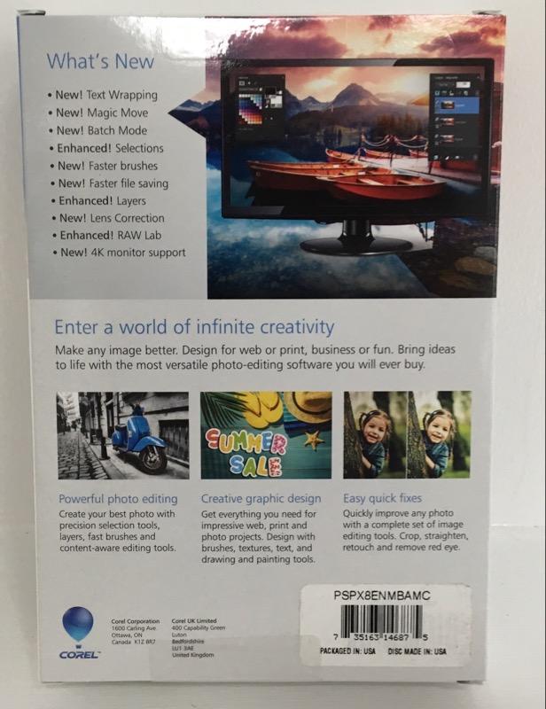 *NEW* Corel Paintshop Pro X8 Software