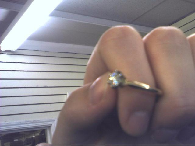 10 K YG .40 CTTW Lady's Diamond Engagement Ring DIAMOND STUDS (PR) .38 CT.