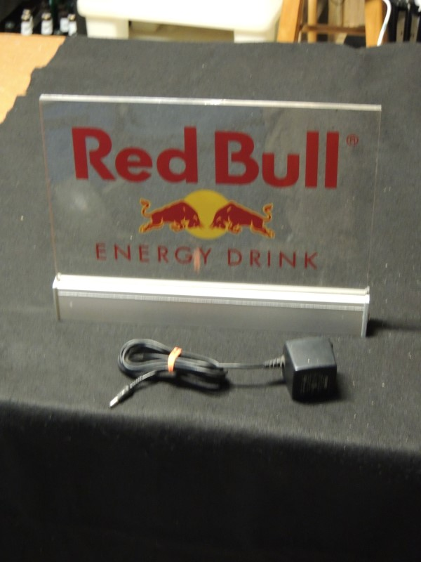 Red Bull Energy Drink Light-Up Sign