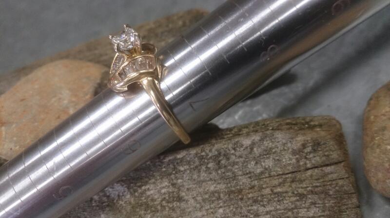 Lady's Diamond Engagement Ring 11 Diamonds .36 Carat T.W. 14K Yellow Gold 3.3g