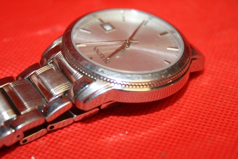 Goldia Bulova Stainless Steel Mens Watch Model, 96B105