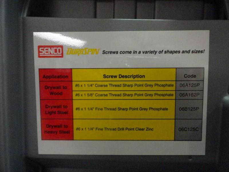 Senco DuraSpin DS162-14V 14.4 Volt Drywall Screw Gun