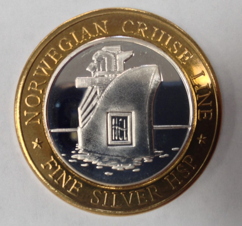 Norwegian Cruise Line HSP Lost Ship .999 Fine Silver Gaming Token Neptune