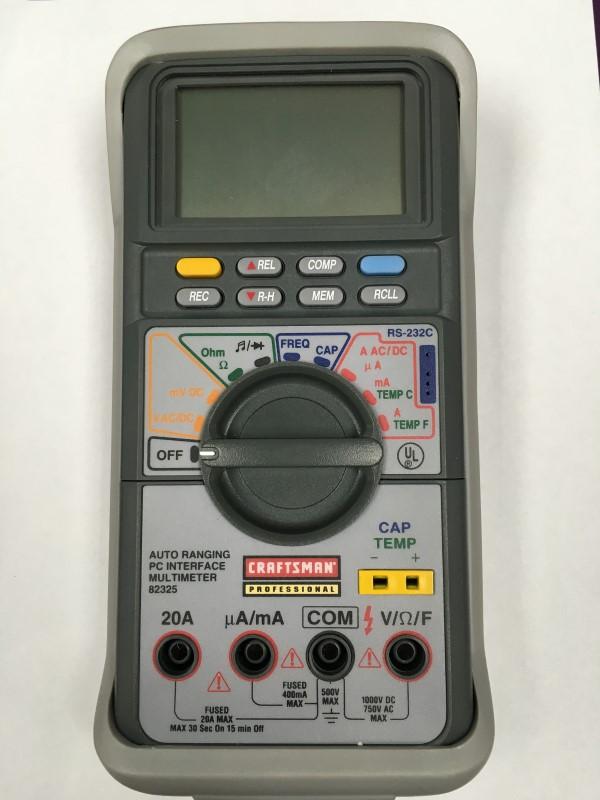CRAFTSMAN AUTO RANGING PC INTERFACE MULTIMETER, MODEL # 82325