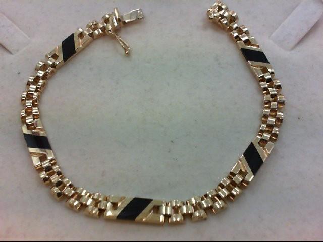 Gold Bracelet 10K Yellow Gold 18g