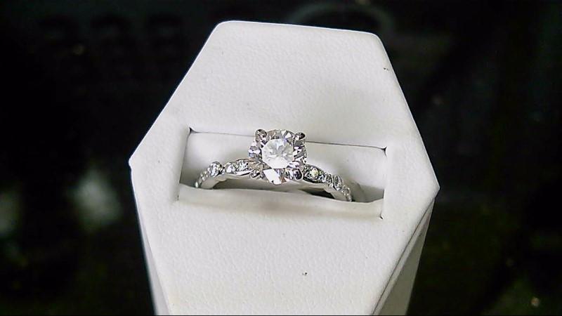Lady's Gold-Diamond Anniversary Ring 17 Diamonds 1.26 Carat T.W. 14K White Gold