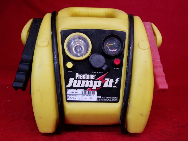 Prestone Battery Jump Box with Cable & Charger