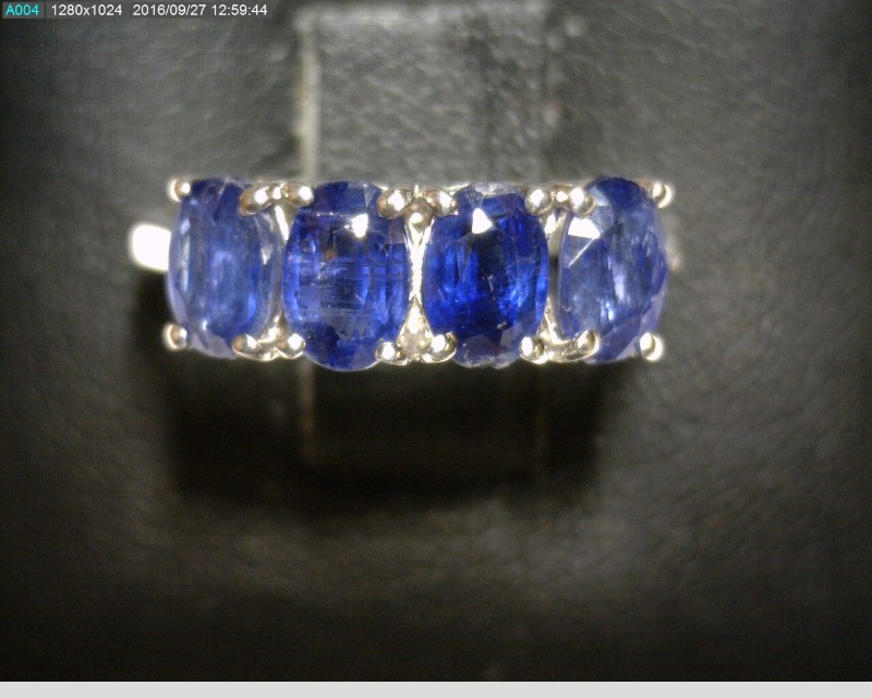 Blue Stone Lady's Silver & Stone Ring 925 Silver 1.49dwt Size:6