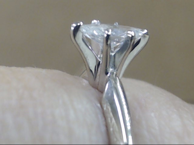ESTATE MARQUISE NATURAL DIAMOND ENGAGE WED RING 14K WHITE GOLD SZ 6