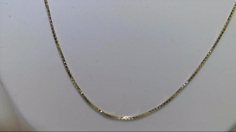 "18"" Inch Box Chain 14K YG Yellow Gold"