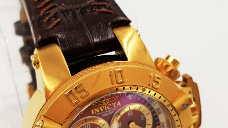 Invicta Subaqua Noma III Swiss Chronograph Brown MOP Dial Watch 5501