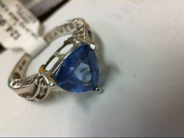 Blue Stone Lady's Silver & Stone Ring 925 Silver 3.6g