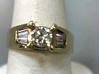 Lady's Diamond Engagement Ring 5 Diamonds .55 Carat T.W. 14K Yellow Gold 2.9dwt