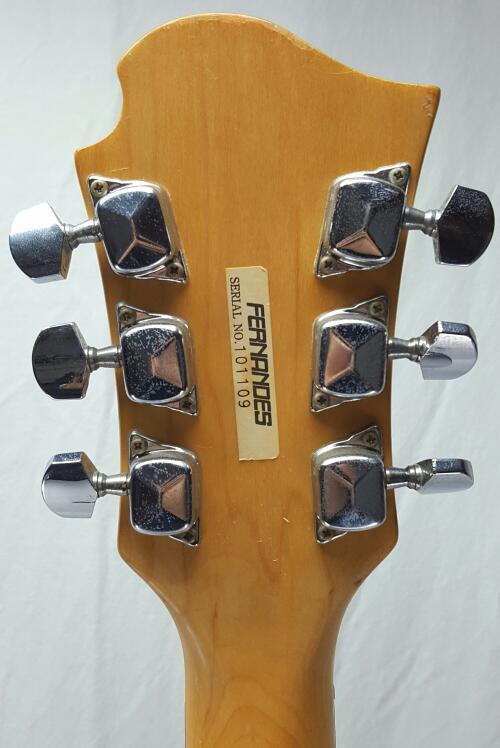 FERNANDES MONTEREY Black Electric Guitar