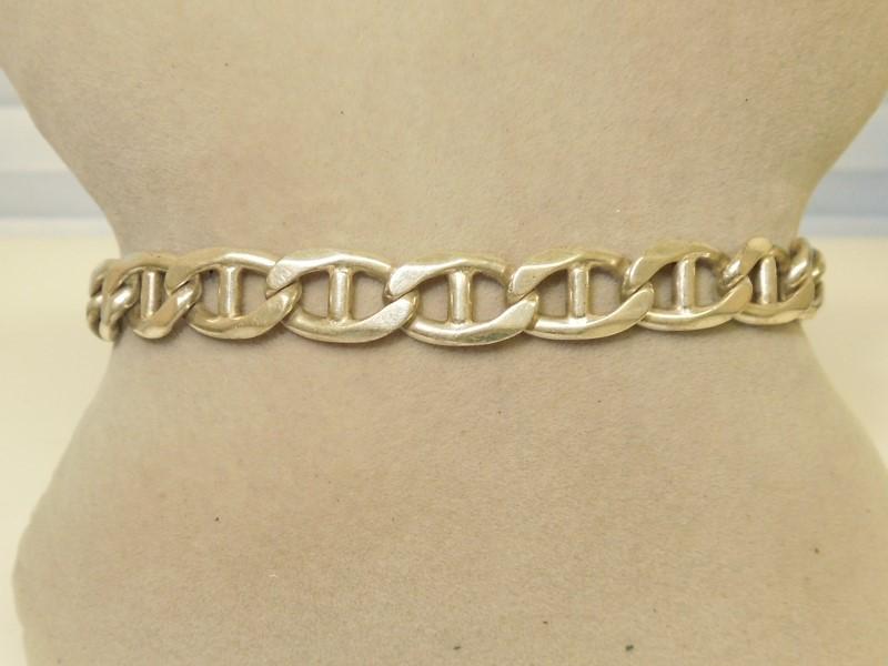 Silver Link Bracelet 925 Silver 21g