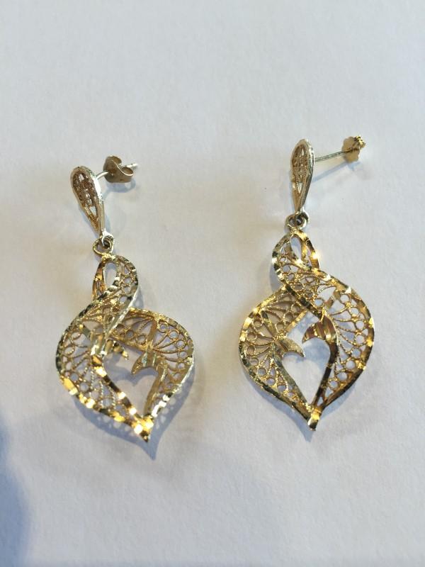 Gold Earrings 14K Yellow Gold 4g