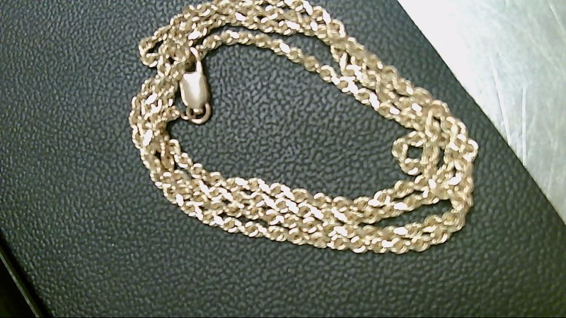 Gold Rope Chain 14K Yellow Gold 9.9g