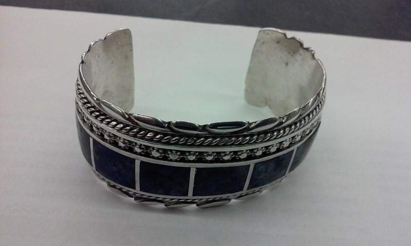Gray Stone Silver-Stone Bracelet 925 Silver 76.1g