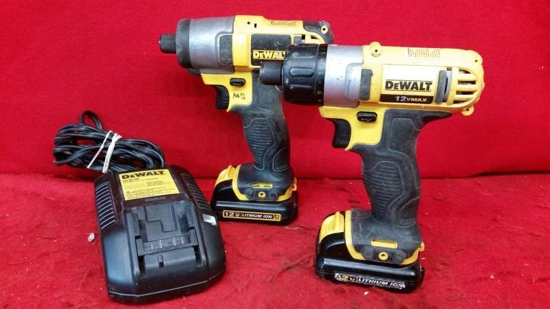 Dewalt 12V Cordless Dcf815 & Dcf610 3/8'' Drill Driver Impact Driver
