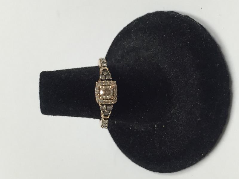 Lady's Diamond Fashion Ring 29 Diamonds .50 Carat T.W. 14K Rose Gold 2.1dwt