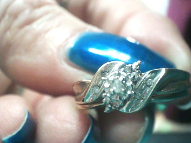 Lady's Diamond Wedding Set 9 Diamonds .080 Carat T.W. 10K Yellow Gold 3dwt