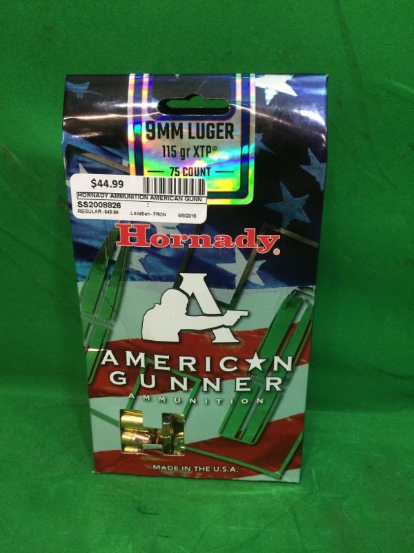 HORNADY Ammunition AMERICAN GUNNER 9MM 115 GR XTP