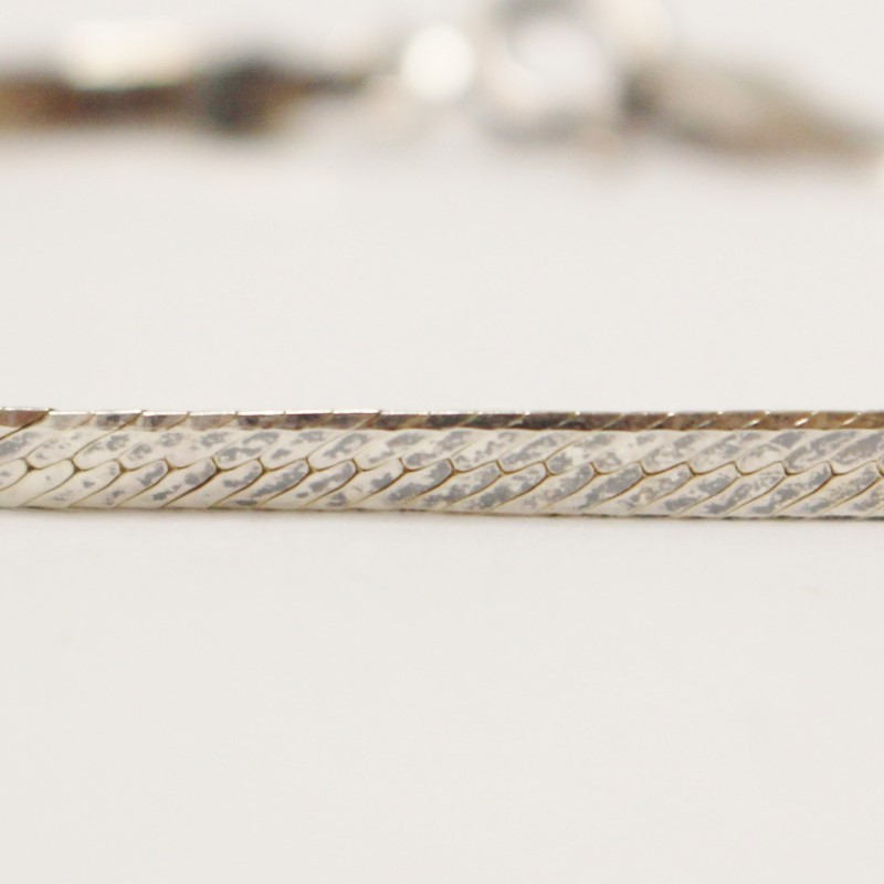 "7"" Sterling Silver Herringbone Bracelet"