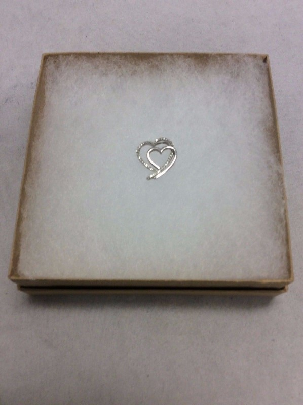 Silver-Diamond Pendant 44 Diamonds .44 Carat T.W. 925 Silver 1.11g