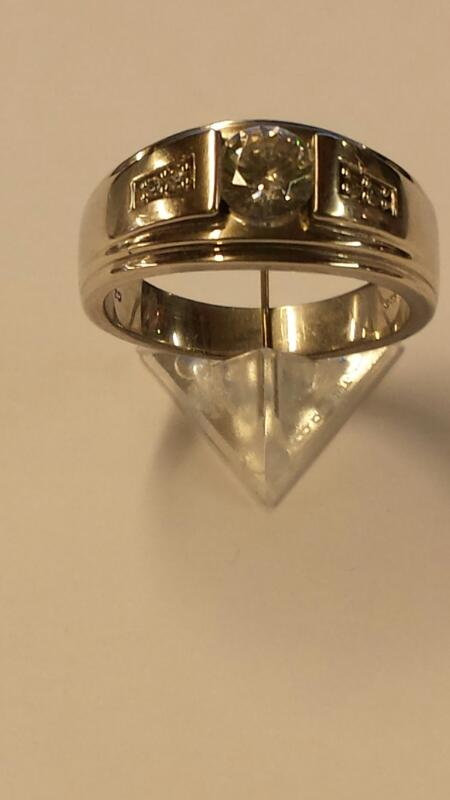 Cubic Zirconia Gent's Silver & Stone Ring 925 Silver 5.5dwt Size:10.5