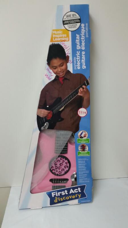 First Act Discovery Children's Pink Cheetah Print Electric Guitar