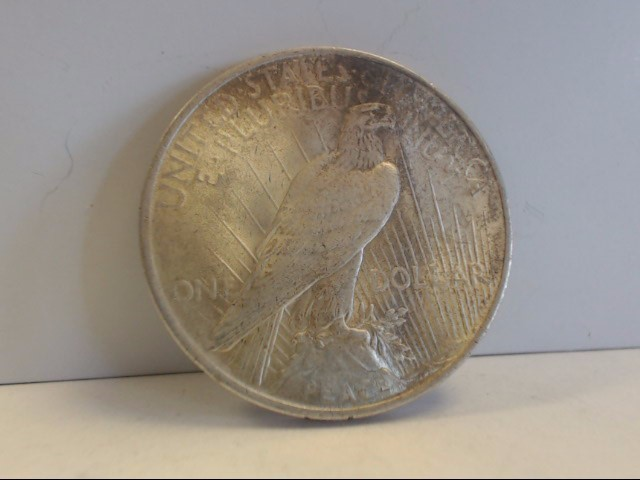1922 Peace Dollar $1 Coin NO MINT MARK 90% Silver Natural Patina