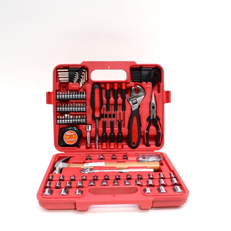 Ultra-Tough Ultra Steel 110 Piece Home Repair Mixed Tool Set w/case>