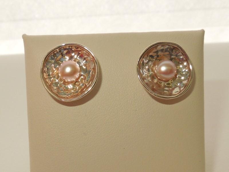 Pearl Silver-Stone Earrings 925 Silver 4g