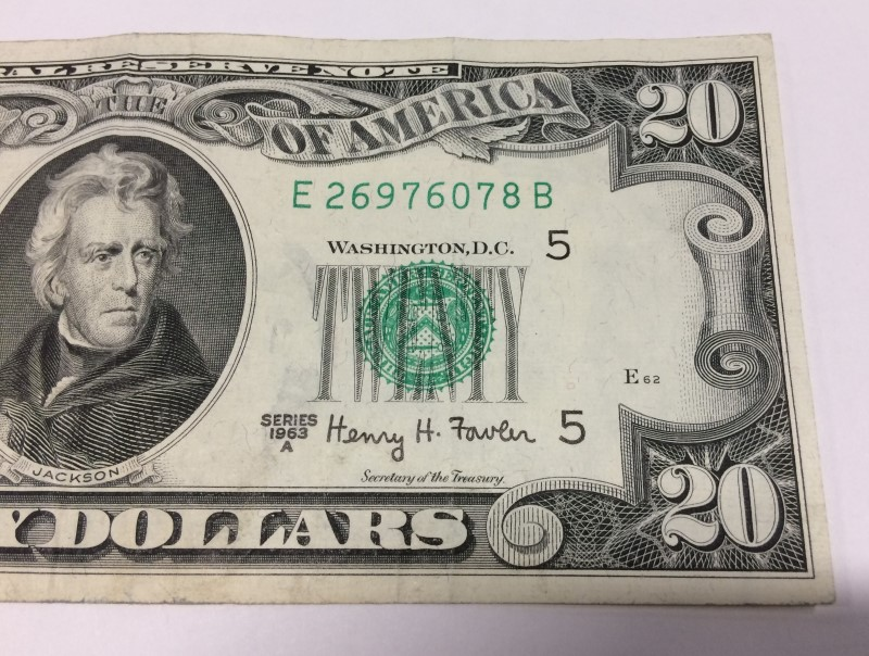 UNITED STATES 1963 A SERIES $20.00 NOTE