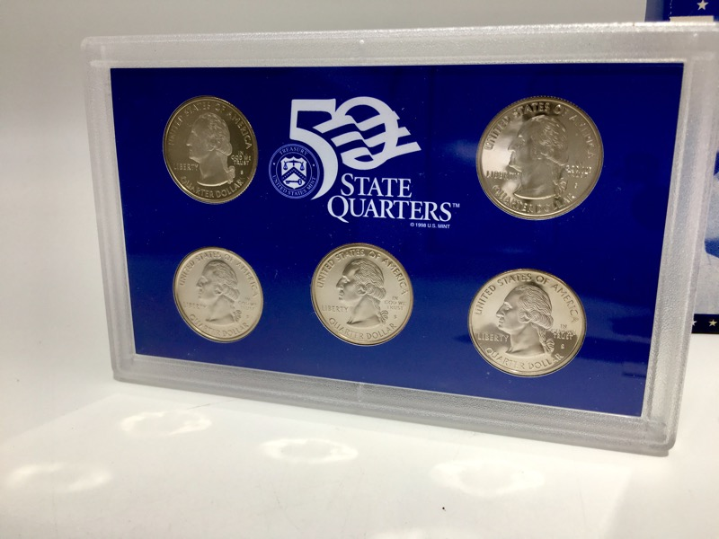 1999 United States Mint Proof Set - 9 Coins - Box & COA - NICE