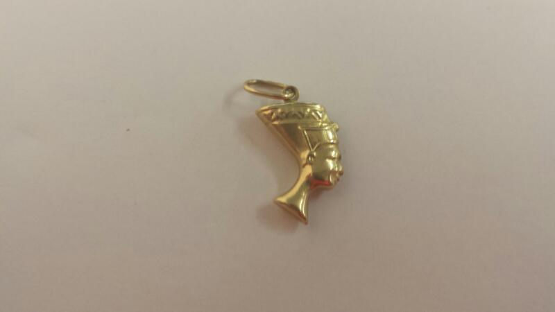 10K-Y/G Egyptian Head Pendant
