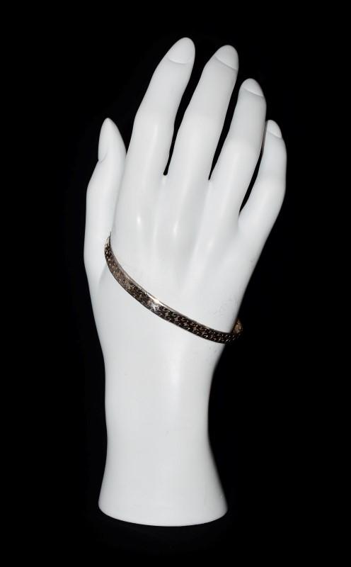 "7.5"" Sterling Silver Herringbone Bracelet"