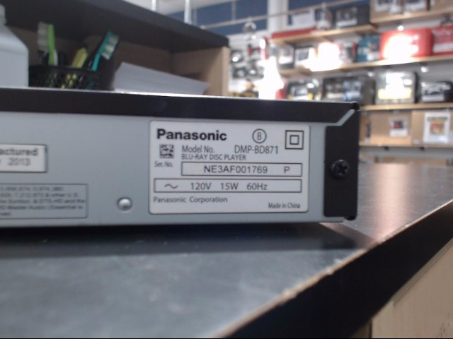 PANASONIC Blu-Ray Player DMP-BD871