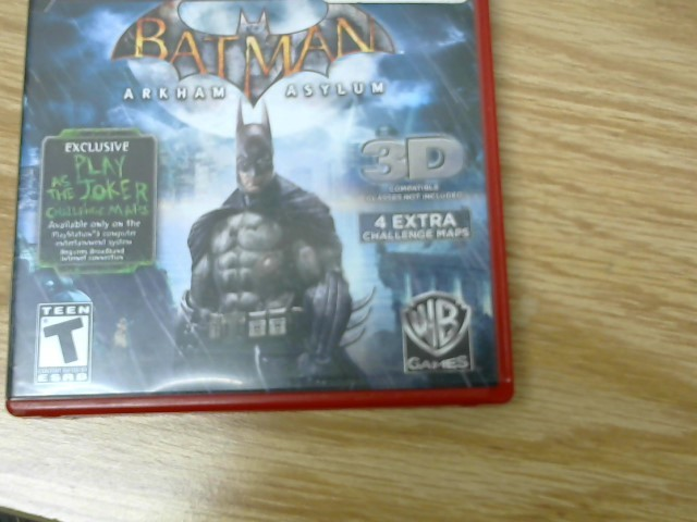 SONY Sony PlayStation 3 Game PS3 BATMAN ARKHAM ASYLUM