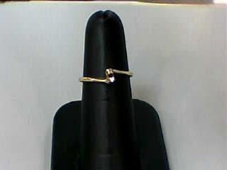 Lady's Diamond Engagement Ring 2 Diamonds .010 Carat T.W. 10K Yellow Gold