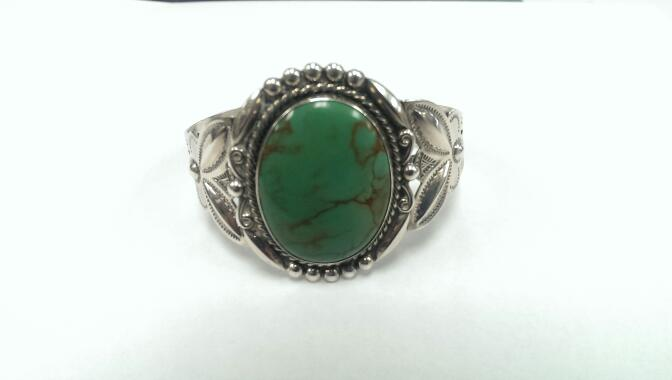 Turquoise Silver-Stone Bracelet 925 Silver 35.73g
