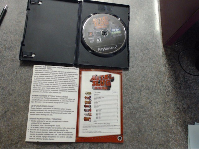 Sony PlayStation 2  METAL SLUG ANTHOLOGY