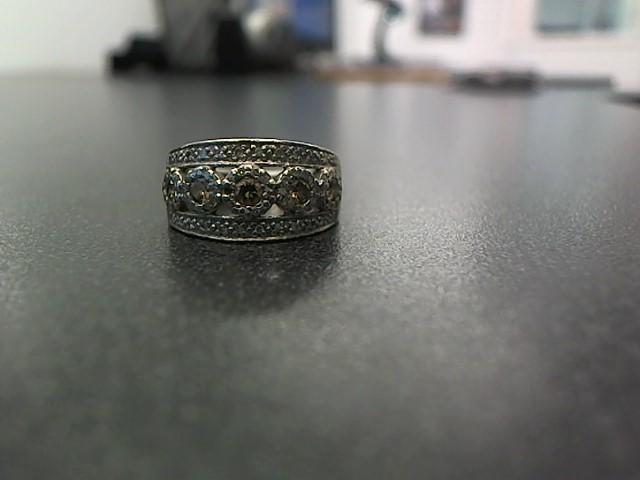 Lady's Diamond Fashion Ring 78 Diamonds .98 Carat T.W. 14K White Gold 6.1g