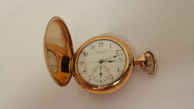 Elgin Pocket Watch - Year 1904 - Grade 320 - Jewels 7j - Engraving AGM